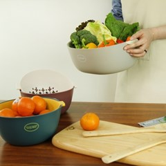 리넥 물빠짐채반 트레이겸용 과일 야채트레이