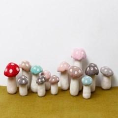 버섯 장식 비비드 4 color