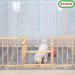 토도리브로 원목강아지울타리_옆면5p+문짝1p(잠금장치사은품증정)