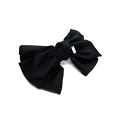 volume ribbon hairpin (black)