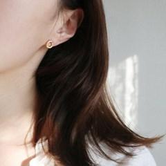 미니 동그라미 은침 귀걸이