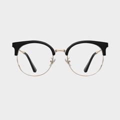 DOT gold-black 안경테 울템 어울리는 금테 큰_(1974063)