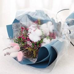 [데코봉봉]드라이플라워 꽃다발 (블루)