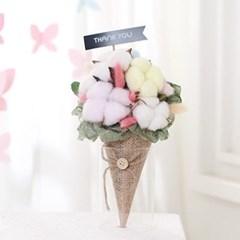 [데코봉봉]목화솜 아이스크림콘 꽃다발(파스텔)