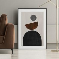 서클그레이 추상화 그림 인테리어 액자 포스터