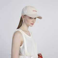 FUN FROM FUN Logo Ball Cap_Ivory