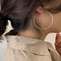 데일리 얇은 50mm 70mm 큰 링 귀걸이