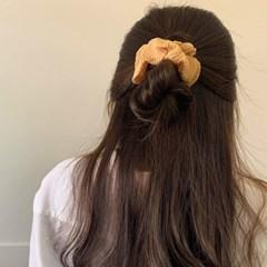 [2개세트][9 color] 쉬폰 파스텔 플리츠 주름 곱창머리끈