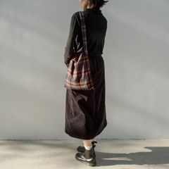 Nostalgic Plaid Bag (NAVY)