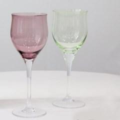 컬러 와인잔 유리컵 글라스 고블렛잔