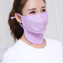 여자 멀티 도트 넥 마스크 얼굴 햇빛가리개