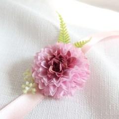 브라이덜샤워소품 폼폼이 꽃팔찌