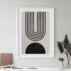 서클하프 추상화 그림 인테리어 액자 포스터