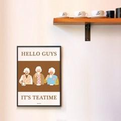 잇츠 티타임! M 유니크 인테리어 디자인 포스터 카페