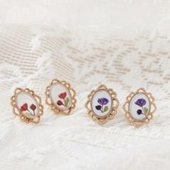 빈티지 프레임 귀걸이 (2color)