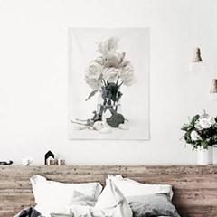 패브릭 포스터 F323 장미 꽃 사진 액자 White roses