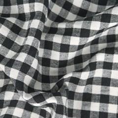 깅엄체크 가림막커튼 블랙 83x139.5