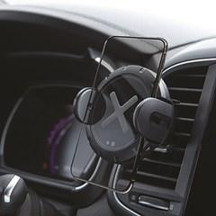 AWC100 차량용 무선 충전 거치대 블랙/무선충전