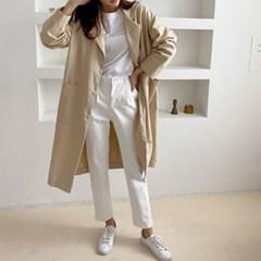 여자 봄 신상 빅포켓 오버핏 봄 바바리 코트
