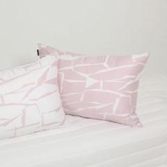 크랙 (핑크) - 마이크로 모달 60수 홑겹이불커버 (퀸)
