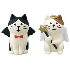 [데꼴] 천사와사탄 고양이 피규어 2종