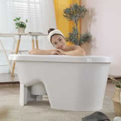 씨에스리빙 브리즈 홍여진 버블바스 반신욕기 이동식욕조 의자형