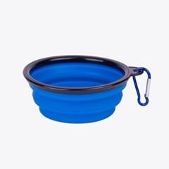 산책용 휴대용 접이식 물그릇 식기 밥그릇