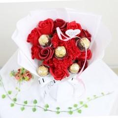 초콜릿 파스텔 비누꽃다발 화이트데이 기념일 선물