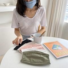 콧구멍 빨아쓰는 일회용 다회용 컬러 끈조절 마스크