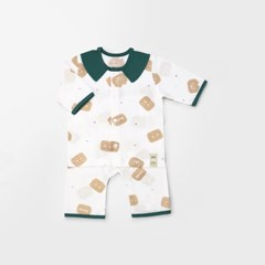 [메르베] 건빵속베어 아기 백일선물세트(내의+슈트+모자_(1411463)