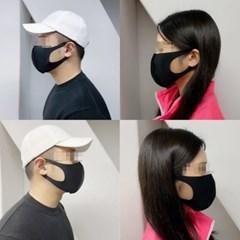 빨아쓰는 자외선 향균  남여공용 블랙 귀가안아픈 3D 마스크