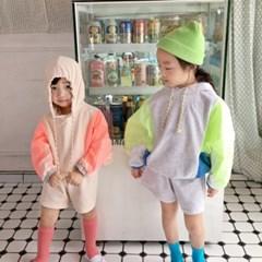 꽁) 스포티배색아노락 아동 상하세트