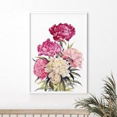 가든 모란 꽃 액자 보테니컬 그림 인테리어 포스터