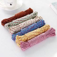 기본형 로프형 빨래줄 1개(색상랜덤)