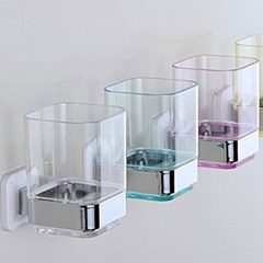 투명 다용도 칫솔꽂이 1개(색상랜덤)