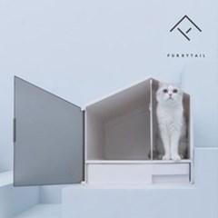 퓨리테일 사막화방지&프라이버시 하우스형 고양이 화장실