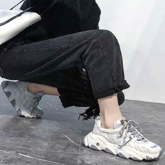 kami et muse Hologram point leather ugly sneakers_KM19w374