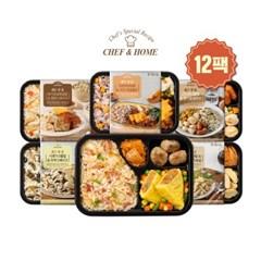 쉐프앤홈 도시락 6종 (12팩) 식단관리 간편식