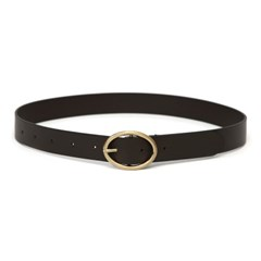 OVAL BELT / LEATHER / D BROWN