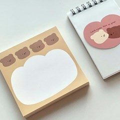 [밤토리상점]빵 떡메모지