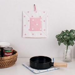 도트 원단 냄비받침 2color