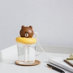라인프렌즈 USB 미니 가습기 브라운