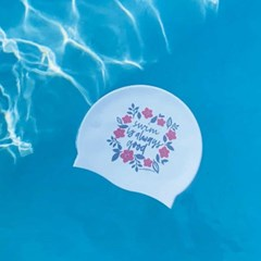 Cherry Blossom Swimcap White