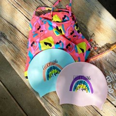 Everything Rainbow Swimcap Mint