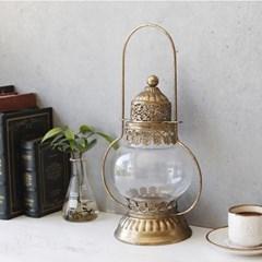 Antique 플랜 유리 틴촛대 (A17)