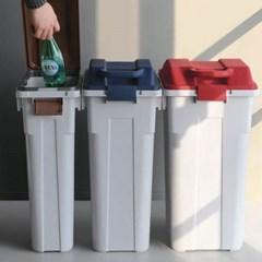 다용도 핸들 쓰레기통 60L 1개(색상랜덤)