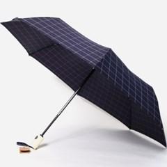 PARACHASE 파라체이스 3256 코튼 체크 패브릭 3단 우산