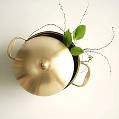 놋담 방짜유기 유기냄비 파티웍
