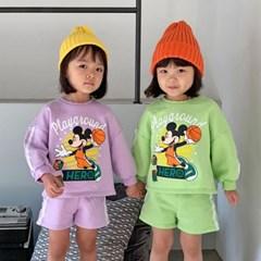 핑) 디즈니정품 입고싶은 미키 주니어 상하세트
