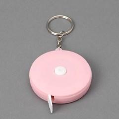 기본형 핑크 원형 줄자 1개